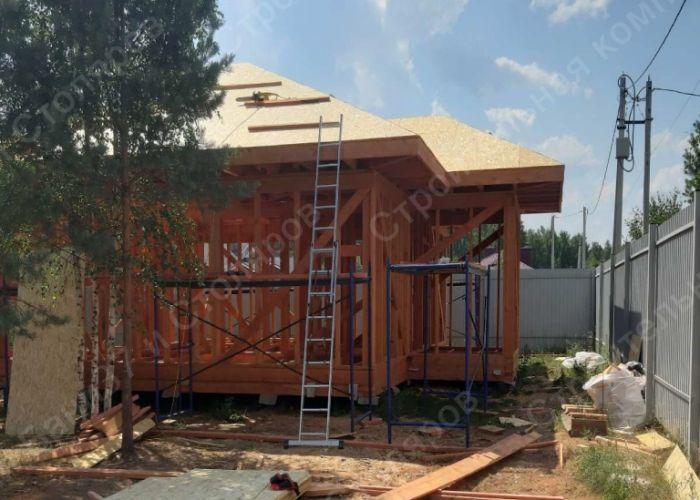 Сборка каркасного дома в дер. Полуниха, монтаж крыши