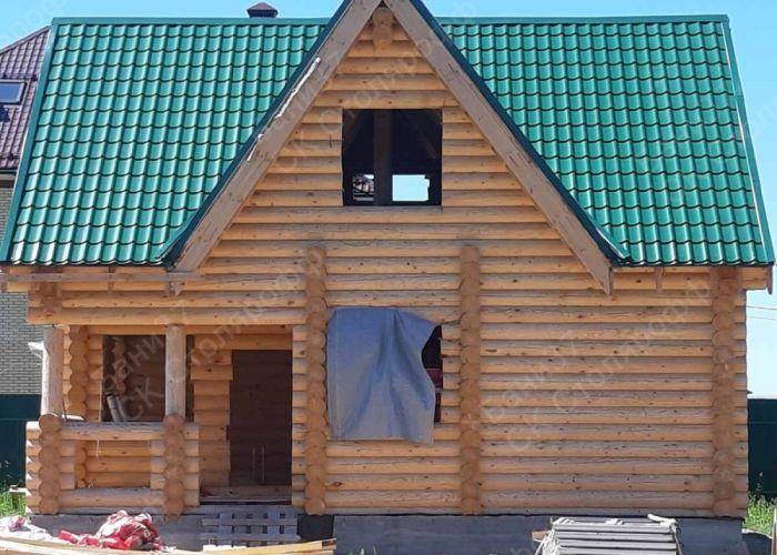 Баня-дом в пос. Солнечный. Начата внутренняя отделка